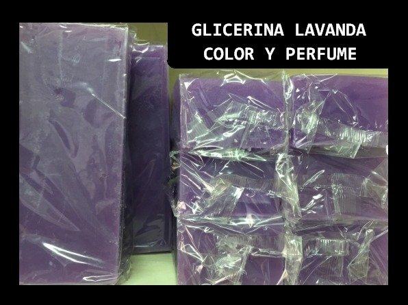 Jabon de Glicerina Color y Perfume