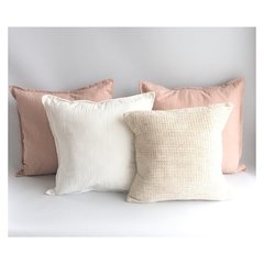 Pack 4 Almohadones Rosa Quarzo Antonia XL