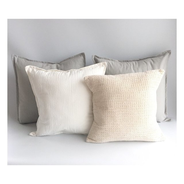 Pack 4 Almohadones Gris Perla Antonia XL
