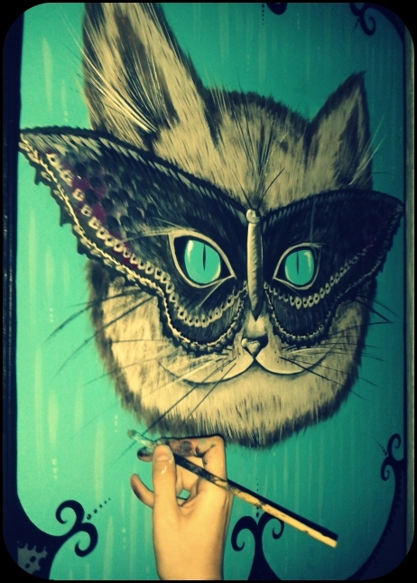 Pintura sobre Pared -Butterfly Cat (CONSULTAR) en internet