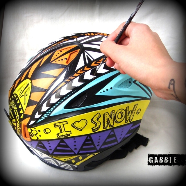Casco Native Chapelco x Gabbie - Gabbie Custom Art