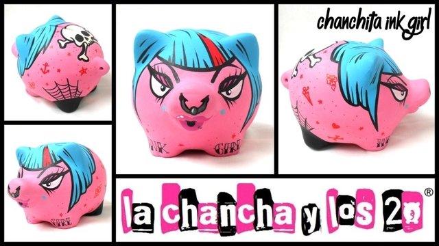 Chanchito Alcancia Ink Girl - comprar online