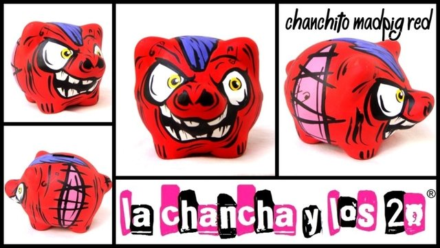 Chanchito Alcancia Madpig Red en internet