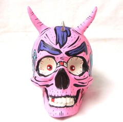 Pink Punk Skull - Gabbie Custom Art