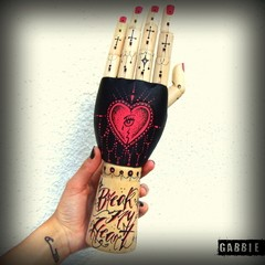 Break My Heart Tat-a-Hand - Gabbie Custom Art