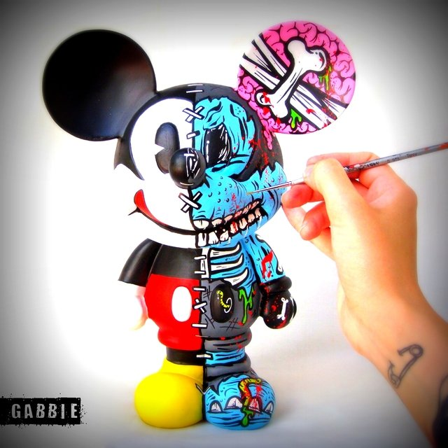 Zombie Half Mickey Art Toy