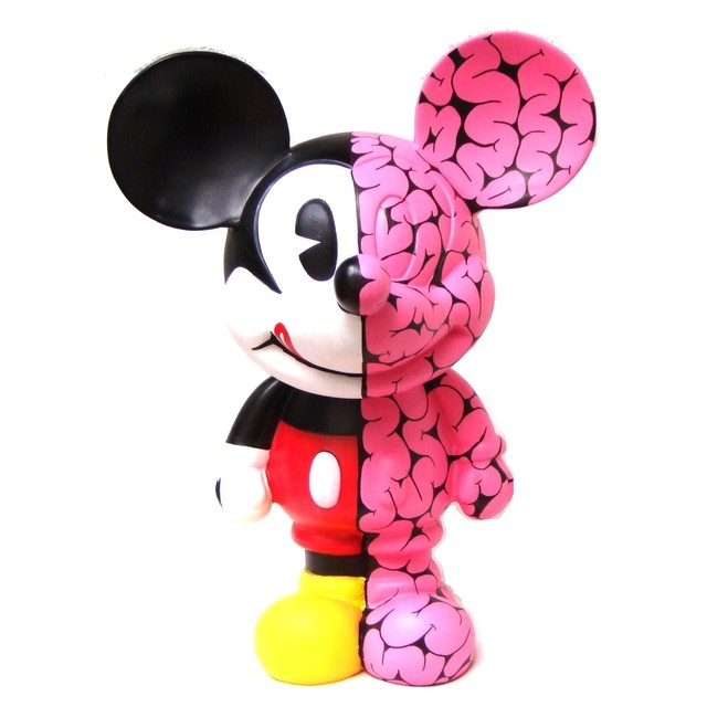 Brains Half Mickey Art Toy - Gabbie Custom Art