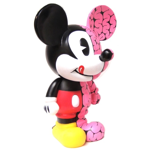 Brains Half Mickey Art Toy - tienda online