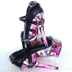 Pink Zombies Penthouse Shoes - Gabbie Custom Art