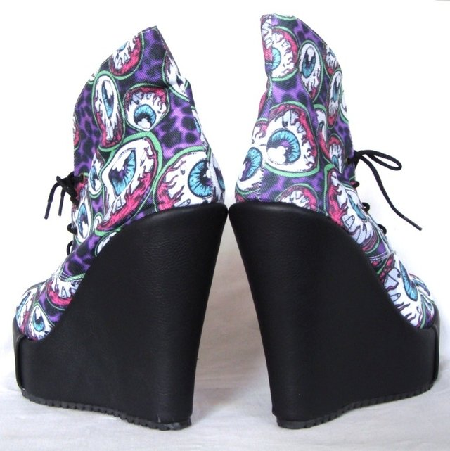 Eye Am Watching Black Booties - Gabbie Custom Art