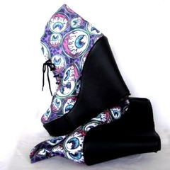 Eye Am Watching Black Booties - tienda online