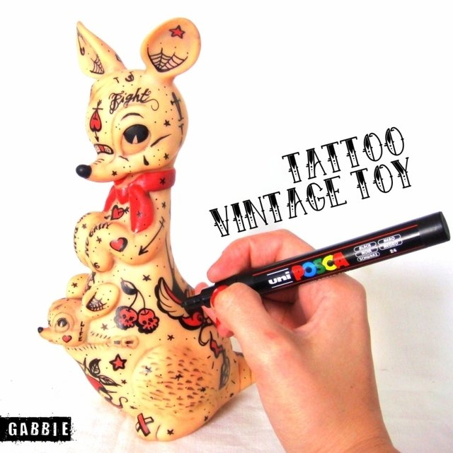 Kangaroo Tattoo Vintage Art Toy en internet