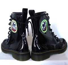 Eye Am Watching! Combat Boots - Gabbie Custom Art