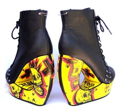 Yellow Punx Curved Booties en internet
