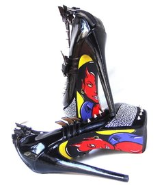 Devil Girl Stilettos - Gabbie Custom Art