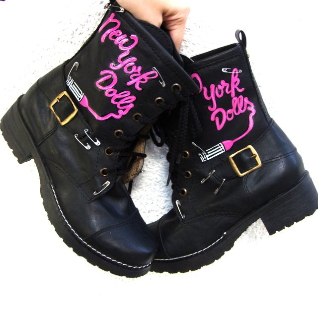 New York Dolls Borcegos - Gabbie Custom Art