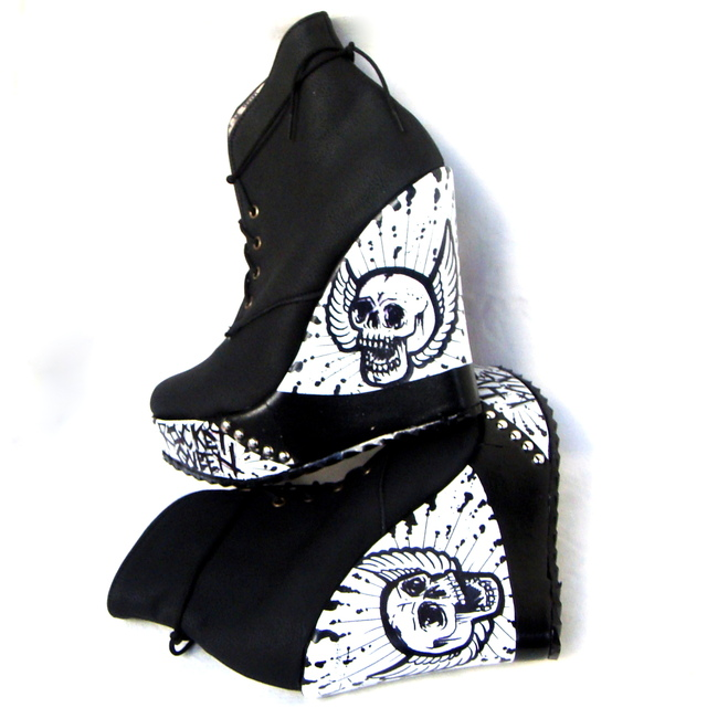 Wild White Booties - Gabbie Custom Art