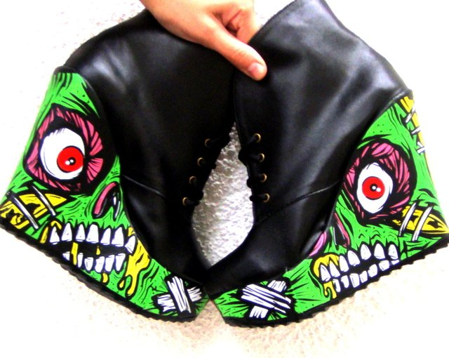 Pretty Creepy Booties - Gabbie Custom Art