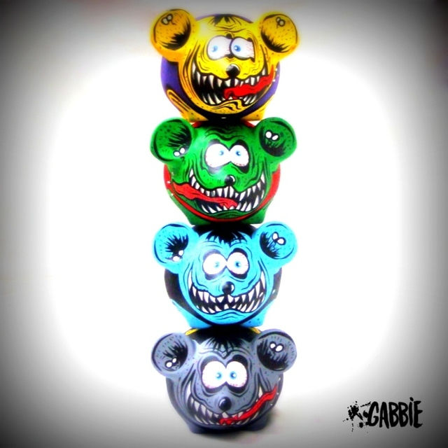 Rat Fink Blue - Gabbie Custom Art
