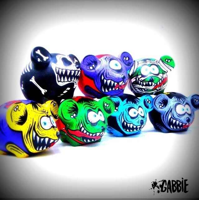 Rat Fink Yellow - Gabbie Custom Art