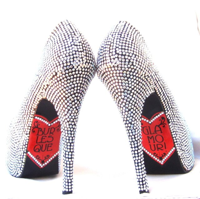 Burlesque Glamour Stilettos - Gabbie Custom Art