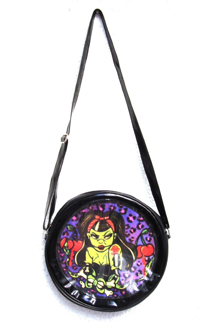 Cartera Zombie Pin Up - Gabbie Custom Art