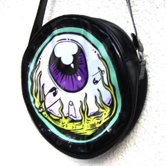 Cartera Eye Am Watching! (Borde Verde Agua) - Gabbie Custom Art
