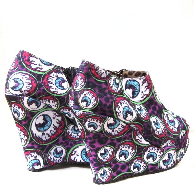 Eye Am Watching -Botinetas con Cierre - Gabbie Custom Art