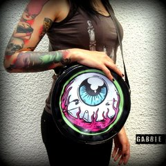 Cartera Eye Am Watching! (Borde Verde) - Gabbie Custom Art