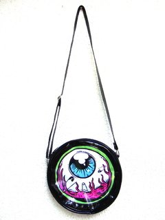 Cartera Eye Am Watching! (Borde Verde) - tienda online