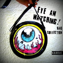 Imagen de MINI Cartera Eye Am Watching! (Borde Amarillo)