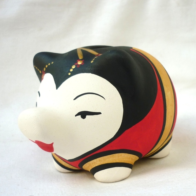Chanchito Alcancia Geisha - Gabbie Custom Art