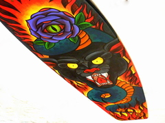 Tabla de Skate Snake Panther - Gabbie Custom Art