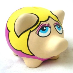 Chanchito Alcancia Miss Piggy - Gabbie Custom Art