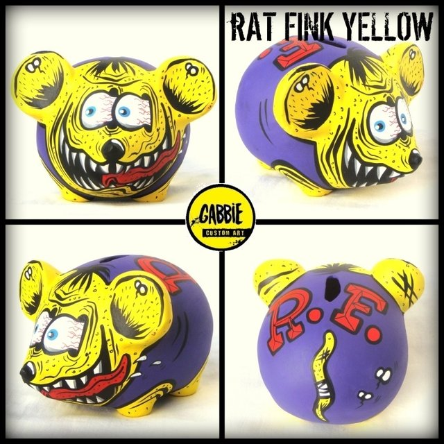 Rat Fink Yellow