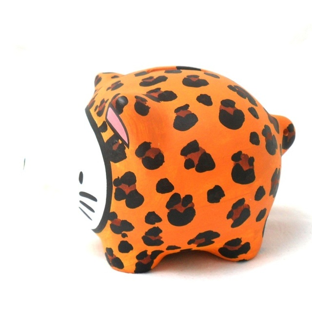 Chanchito Alcancia Hello Kitty Animal Print - Gabbie Custom Art
