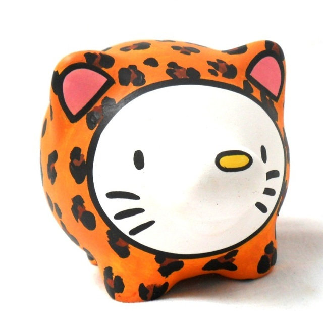 Chanchito Alcancia Hello Kitty Animal Print - tienda online