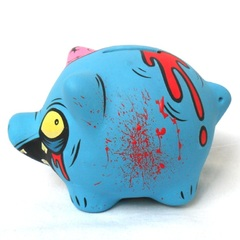Chanchito Alcancia Blue Zombie - Gabbie Custom Art