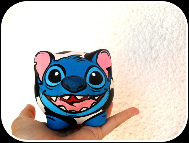 Chanchito Alcancia Stitch Vaca