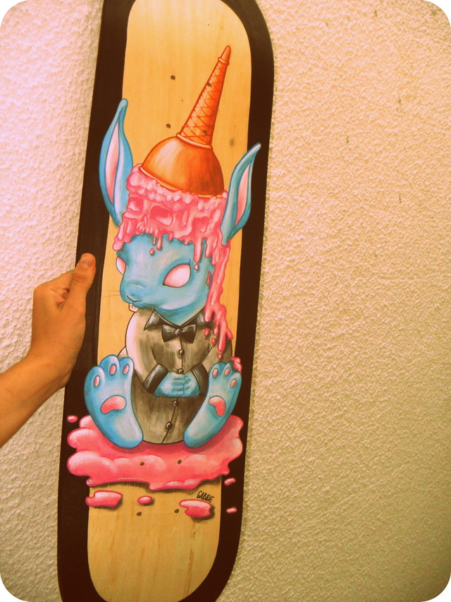 Tabla de Skate Ice Cream Bunny - Gabbie Custom Art