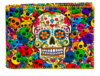 Billetera Calaveras Colores