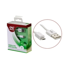 Cable USB a Micro USB One For All CC3315 3mts Blanco