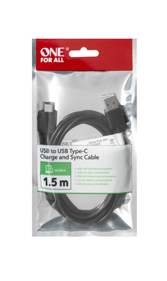 Cable USB One For All CC4045 1,5mts Tipo C Global