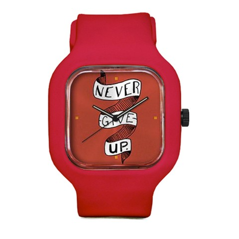 Reloj pulsera NEVER GIVE UP