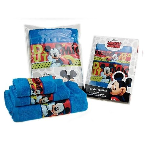 Set toalla + toallita  Jacquard con guarda Disney - Mickey