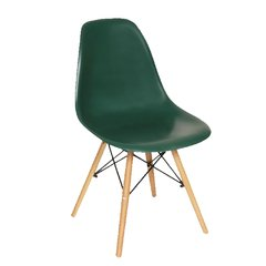 PC-016/VOW Silla Eames Dark Green base madera