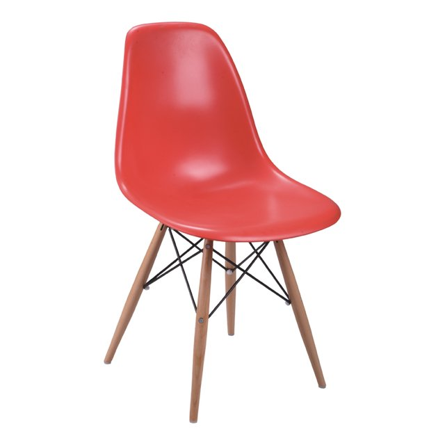 PC-016/WW Silla Eames Watermelon base madera