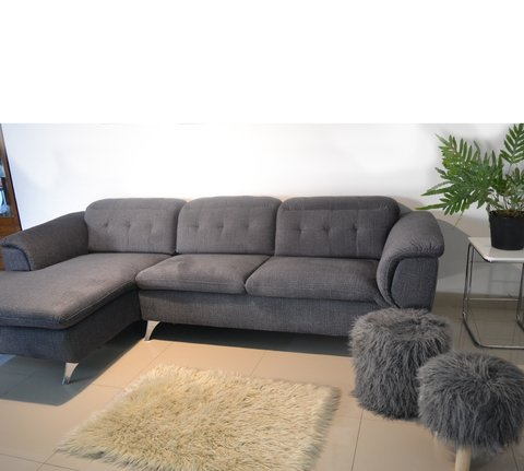 CHARLY/DGL  /  CHARLY/DGR   Sillon Charly dark grey left corner / Sillon Charly dark grey right corner - TRIBECA