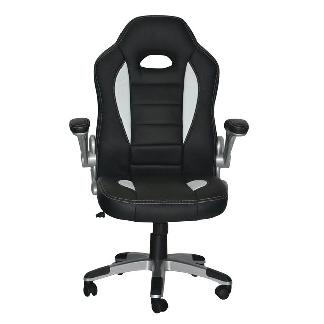 NF-3853/WW Silla Gamer Black & White in White Line - comprar online