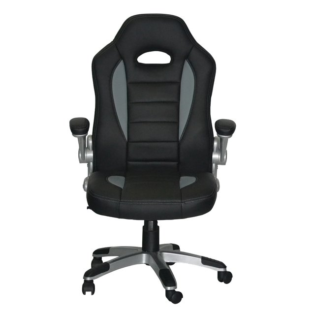 NF-3853/GG Silla Gamer Black & Grey in Grey Line - comprar online